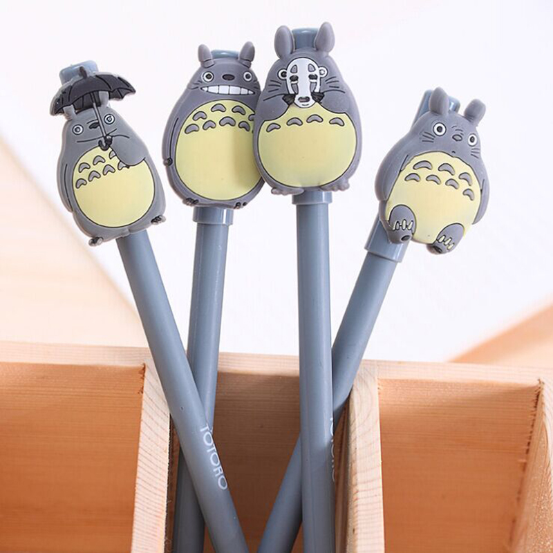 4 Pcs Totoro Unisex Pen Cartoon Cute My Neighbor Gel Ink Pens Signature Escolar Papelaria Stationery