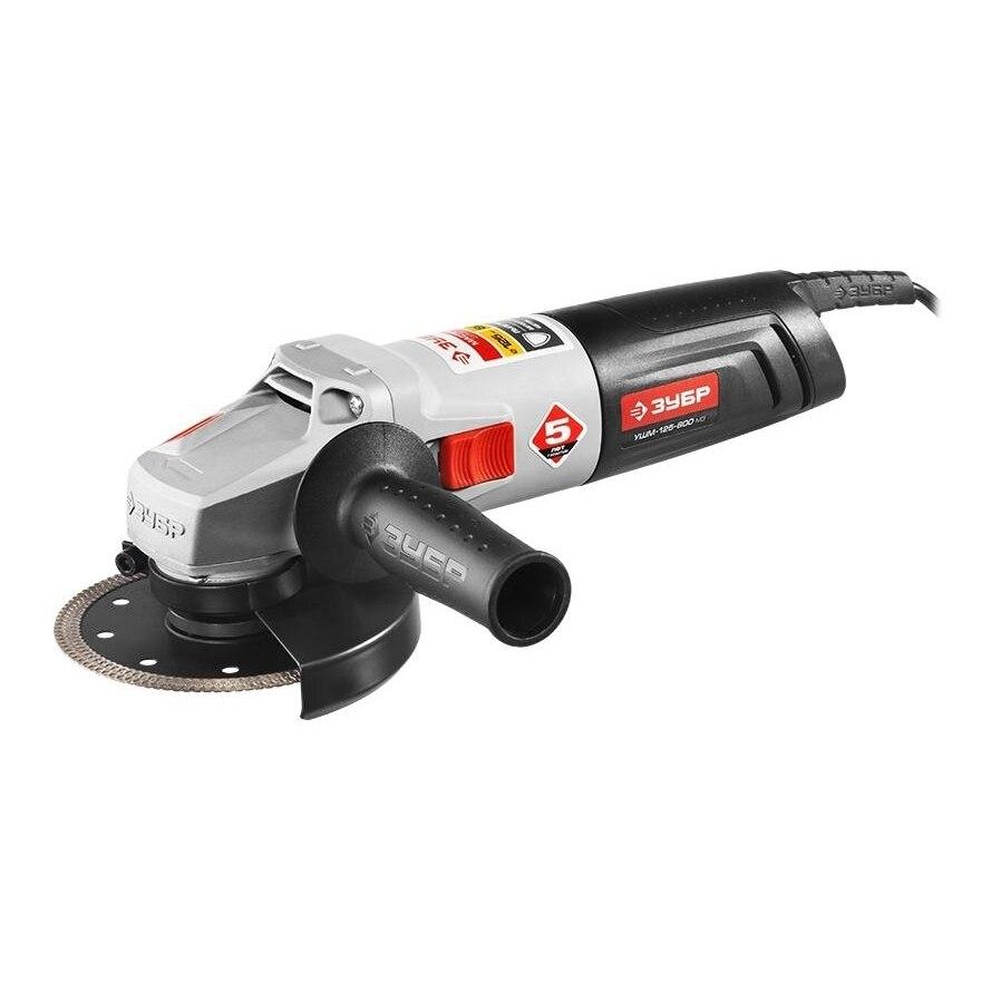 Angle grinder ZUBR LBM-125-800 M3 kalibr mshu 125 955 electric angle grinder polisher machine hand wheel grinder tool