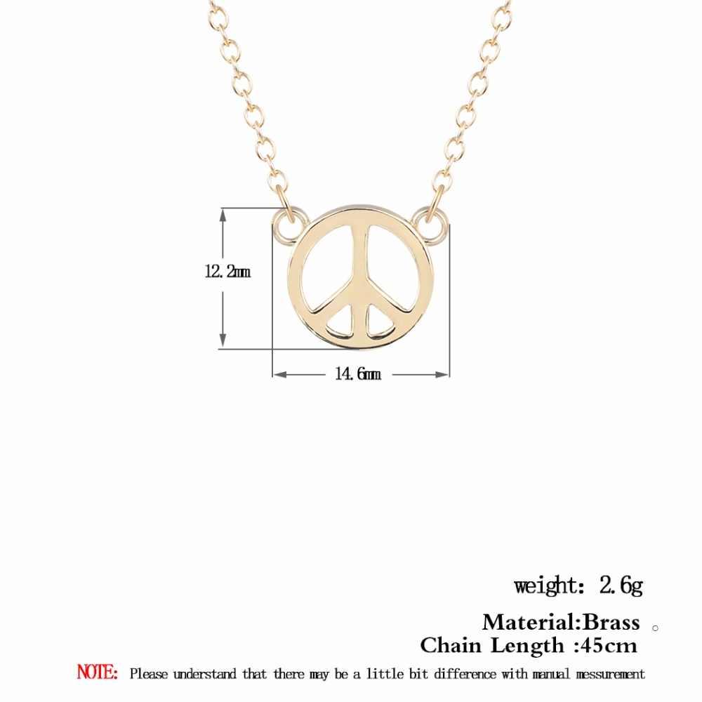 Kinitial איש של עולם שלום סימן תליון שרשרת אהבת סימן היפ הופ שרשרת נשים תכשיטי מתנה