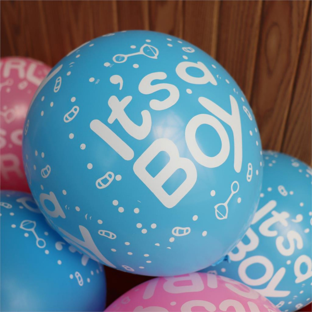 Boy balloon 30pcs lot 12 inch 2 8g latex blue ballons birthday party decorations babyshower birthday baloons baby shower in Ballons Accessories from Home Garden
