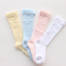 Himipopo Fashion Baby Girls Sock Spring Autumn Cotton Infant Socks Solid Newborn Baby Socks Mesh Baby Girls Knee Sock