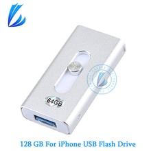 LL трейдер для iPhone iOS андроид я-флэш-накопитель OTG USB флэш-накопитель USB Stick 128 г памяти для хранения USB OTG памяти флешки У придерживаться