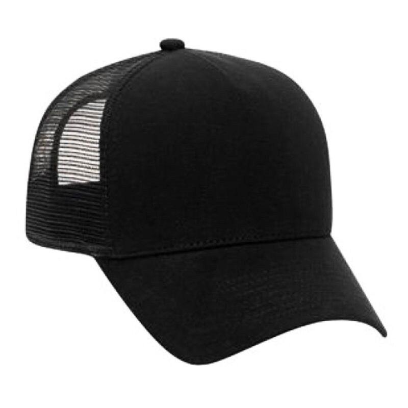 black trucker hat 13