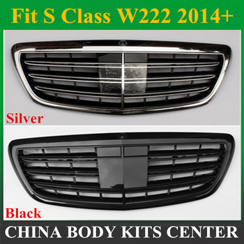 W222 ön tampon ızgarası Örgü Mercedes S Class için W222 4-door Sedan 2014-mevcut S320 S350 S400 S450 S500
