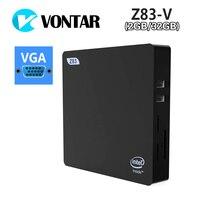 VONTAR мини ПК Intel Cherry Trail Atom x5 Z8350 Поддержка для Windows 10 и Linux 2 ГБ 32 ГБ HD и VGA двойной Выход Bluetooth 4,0