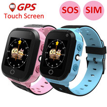 GPS Child Smart Watch With Camera Lighting Touch Screen Phone Location SOS Call Remote Monitor Pk Q50 Q90 Q100(China)