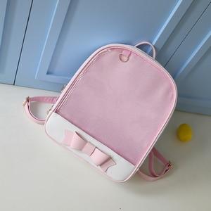 Image 4 - Милый прозрачный рюкзак MSMO с бантом, сумка Ita, школьные ранцы в стиле Харадзюку для девочек подростков, Детский милый рюкзак