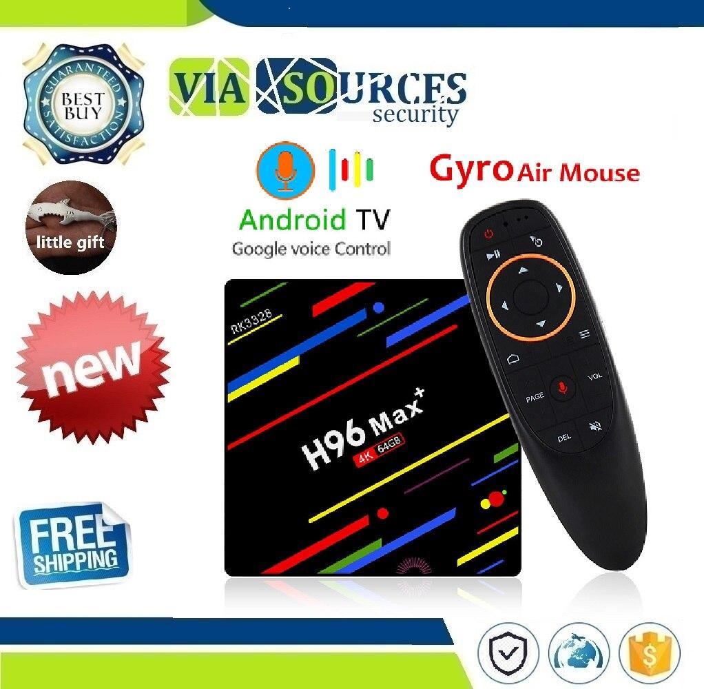 H96 MAX Plus TV Box Android 8.1 4GB 32GB 64GB Smart Set Top Box RK3328 Quad Core 5G Wifi 4K H.265 Media Player H96 Pro H2 PK X96