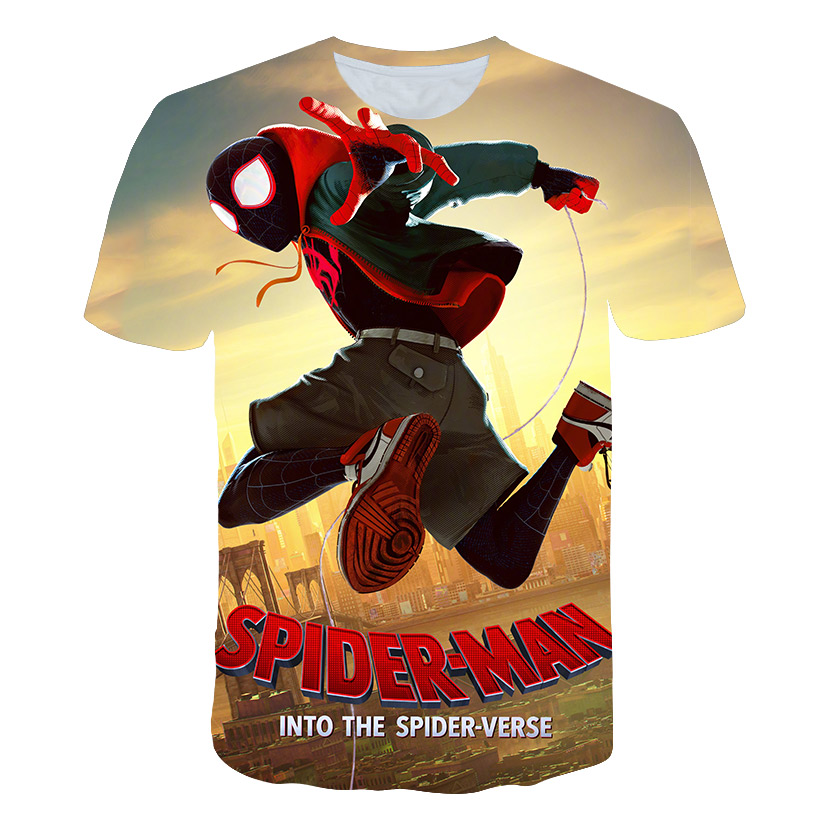 New arrive Spider-Man: Into the Spider-Verse t shirt 3D printed most fashion harajuku style tshirt streetwear summer tops