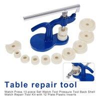Watch Repair Length Watch Back Closer Watch tool Set Press Set Press for Watch Repair Plastic Case Crystal Glass Hand tools 13