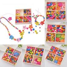 FUNIQUE 1 коробка многоцветный Деревянный бисерный ящик улыбка DIY ювелирные изделия подарок для детей ожерелье браслет Изготовление ювелирных изделий