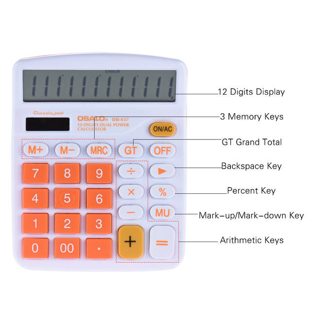 Scientific calculator with fraction key online.
