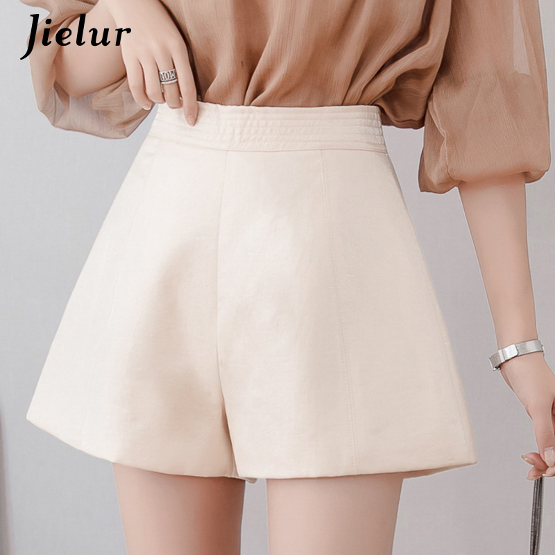 Jielur Loose Shorts Korean-Style High-Waist Femme Summer Women New Chic Simple Sweet