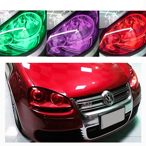 30 см x 1 м/12 дюймов x 40 дюймов 7 цветов автомобисветильник Фара передняя фара задняя фара ТИНТ виниловая пленка стикер легко приклеивается все ...