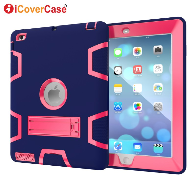 Protector Cases For Apple iPad 2 3 4 Cover Soft Hard Skin Case Stand Front Back Protect Shell iPad4 iPad3 Tablets Pad Accessory ...