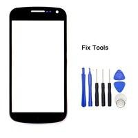 LOVAIN 1 UNIDS Genuino Original Para Samsung Galaxy Nexus I9250 Pantalla Táctil LCD Panel Exterior Frontal del Objetivo de Cristal + Herramientas