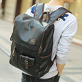 2016 New PU Leather Backpack Men Backpack Waterproof School Bags for Teenagers