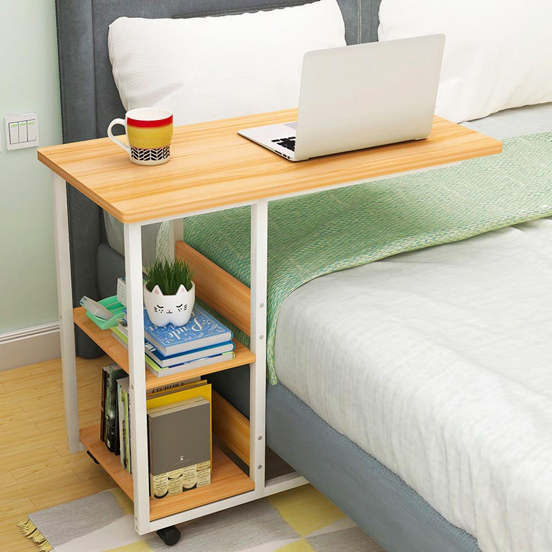 Simple Household computer desk Removable bedside table Laptop table Student convenient storage computer table Office Furniture