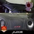 Estilo do carro Dashboard Esteiras De Proteção Sombra Interior Almofada Tapete Pad Photophobism Para JUKE 2010-2016