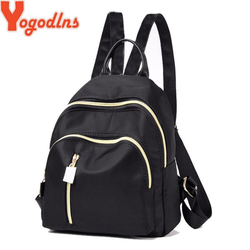 Yogodlns 2019 Casual Mini Backpack Women Black Oxford School Bag For Teenager Girl Nylon Travel Knapsack Female Rucksack