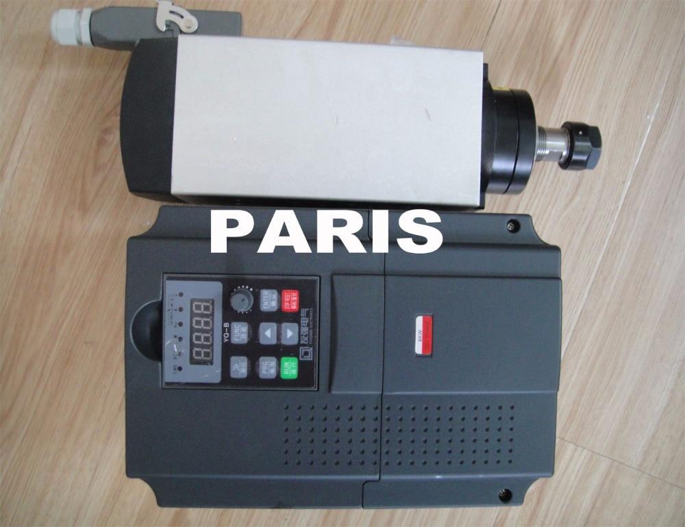 zestaw wrzeciona cnc Wrzeciono 4KW ER20 AC380V + falownik 4KW AC380V VFD