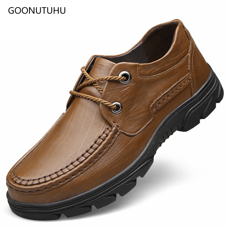 2019 Mens shoes casual breathable slip-on loafers man shoe leather genuine cow shoe youth urban work shoes for men big size 48 2019 Mens shoes casual breathable slip-on loafers man shoe leather genuine cow shoe youth urban work shoes for men big size 48