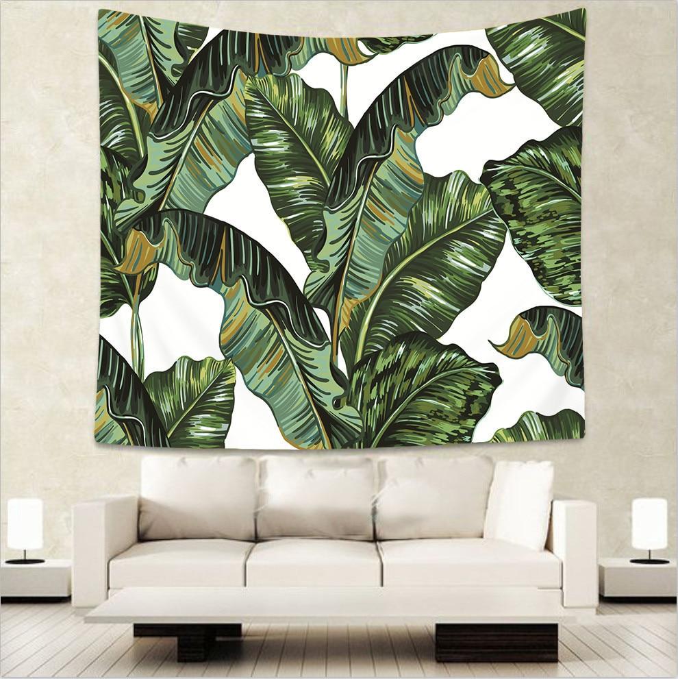 Северные растения зеленые листья дома декоративные гобелены хиппи мандала на стене богемный