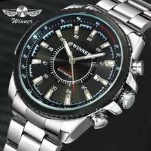 ผู้ชนะธุรกิจอย่างเป็นทางการอัตโนมัติผู้ชายนาฬิกาข้อมือแบรนด์หรูสแตนเลสสตีลนาฬิกาข้อมือ2019