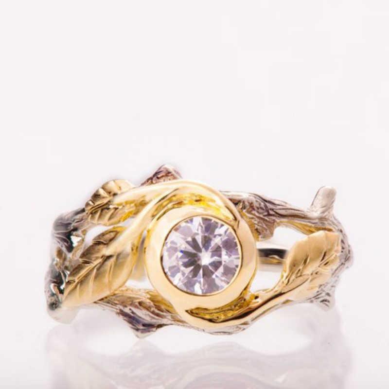 2019 nuevo Color oro separación rama anillos para las mujeres europea y americana Punk joyería anillo de plata antiguo O5M133