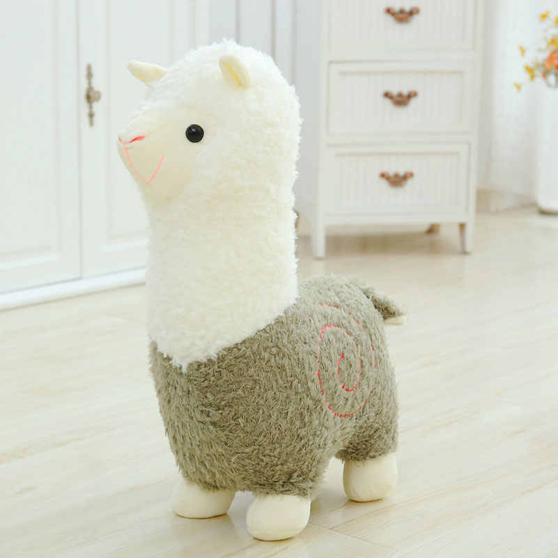 40 cm Tecido Ovelhas Alpaca Brinquedo De Pelúcia Dos Desenhos Animados bonito do Ponto de Pelúcia E Brinquedos Macios Animal Lhama Travesseiro Presente de Aniversário Brinquedos para As Crianças