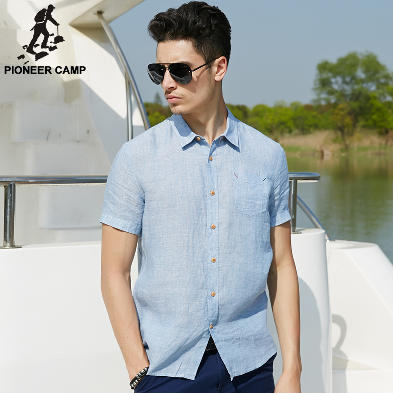 Pioneer camp 2017 new summer men linen shirt casual men 39 s Shirts for thin guys