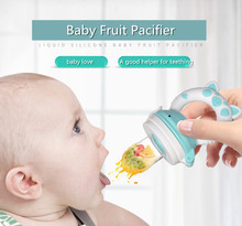 Liquid Silicone Baby Fruit Pacifier New Cartoon Wide-mouth and Vegetable Feeder Silica Gel Bitter