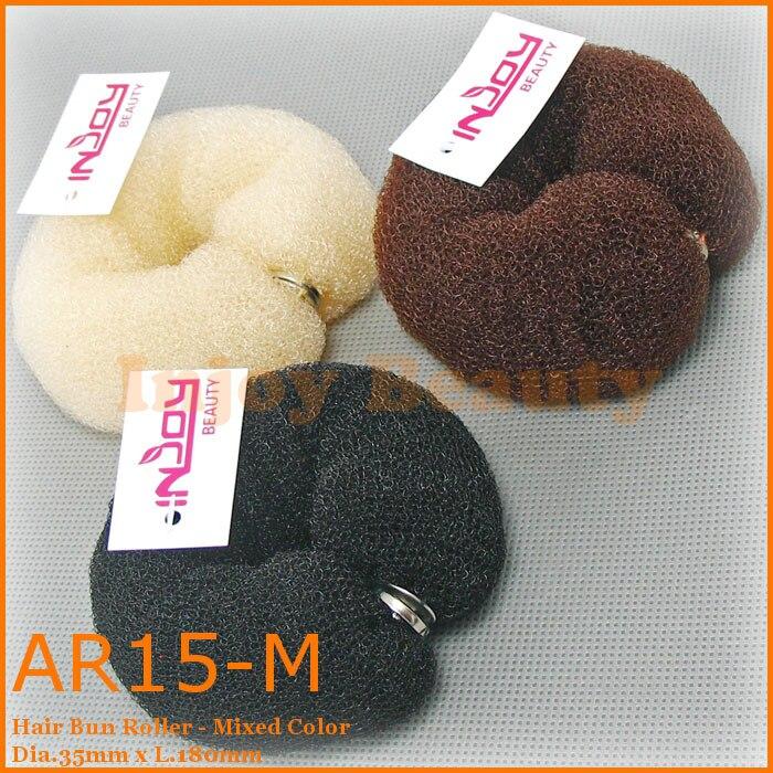 AR15 Free Shipping Wholesale Hair Styling Tool Accessories Hair Roller Bun Ring Donut Shaper Makerhair bun