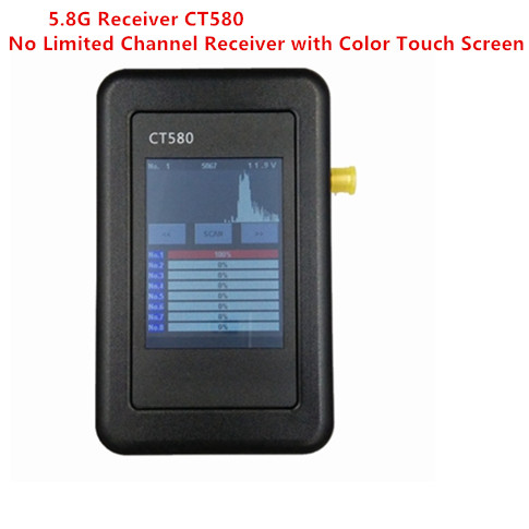 2016 New FPV CT580 5.8G No Limited Channel AV Receiver with Color Touch Screen For All Transmitter 8CH 32CH 40CH