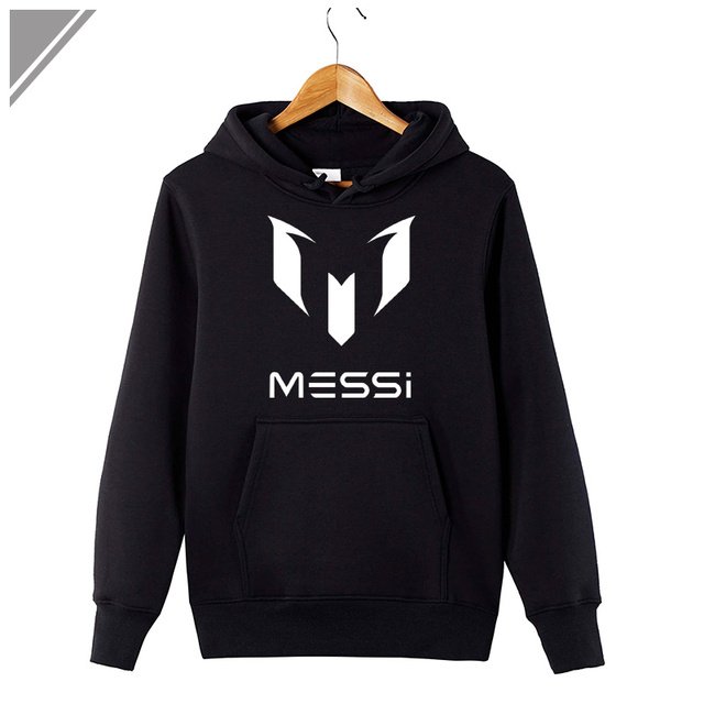 2017 Winter Dress Fashion Hoodies Messi Print Sweatshirt Casual Men's Sportswear Hoody Long-Sleeved Mens Swag Hoodie Plus Size