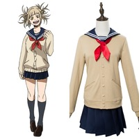 Boku no Hero Akademia Cosplay My Hero Academia Himiko Toga Cosplay Costume Girls Full Uniform Dress Halloween Carnival Cosplay