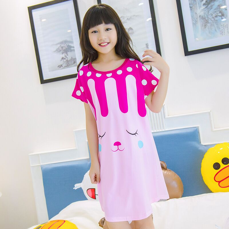 63fb5822f64b Detail Feedback Questions about Children s summer milk silk nightdress  children short sleeved Nightgown suit Girls lovely Home Furnishing clothes  on ...