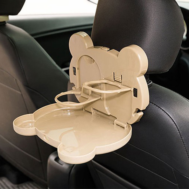 OHANNY Car Seat Back Drink Holder Food Tray Folding Dining Table Pallet Water Cup