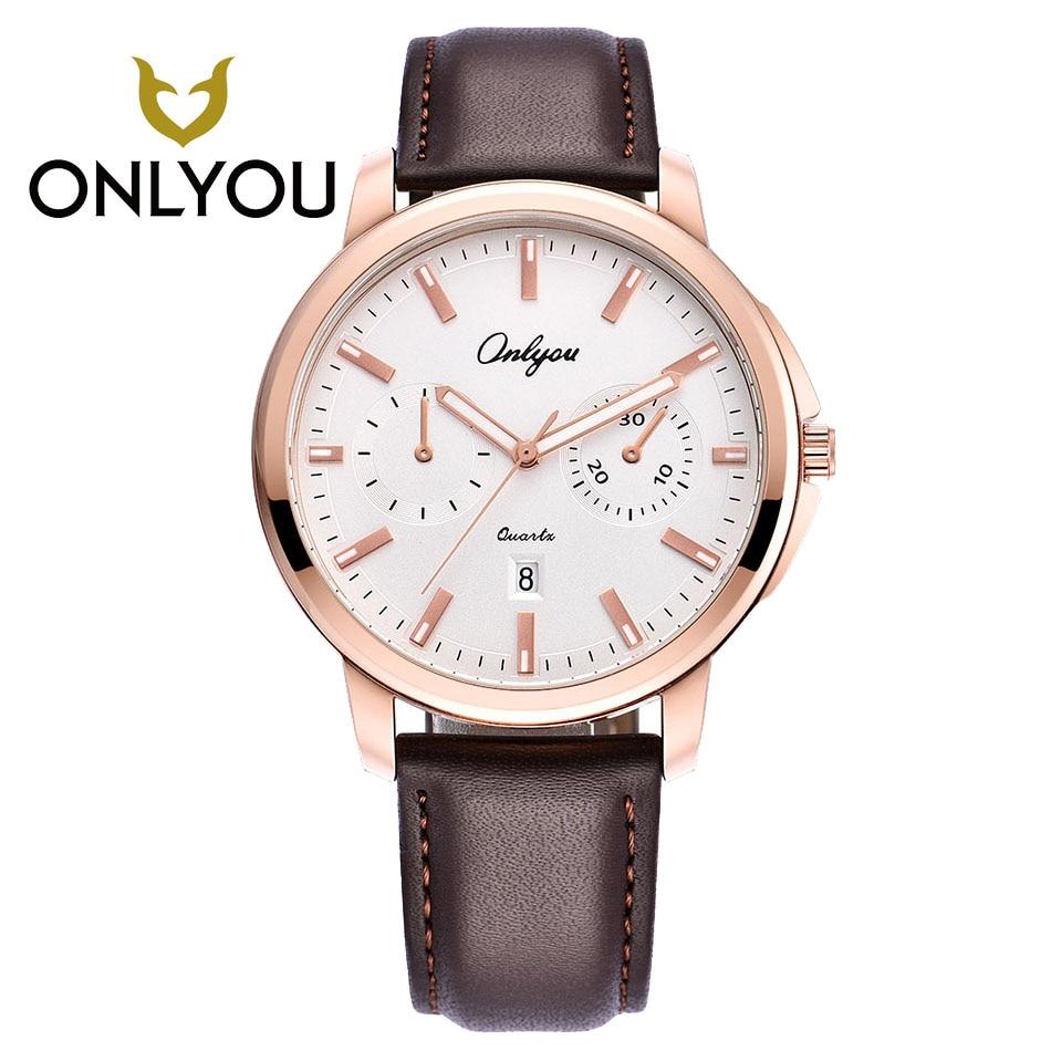 ONLYOU Brand Bărbați ceasuri Rosegold Uita-te la moda de ceas din - Ceasuri bărbați