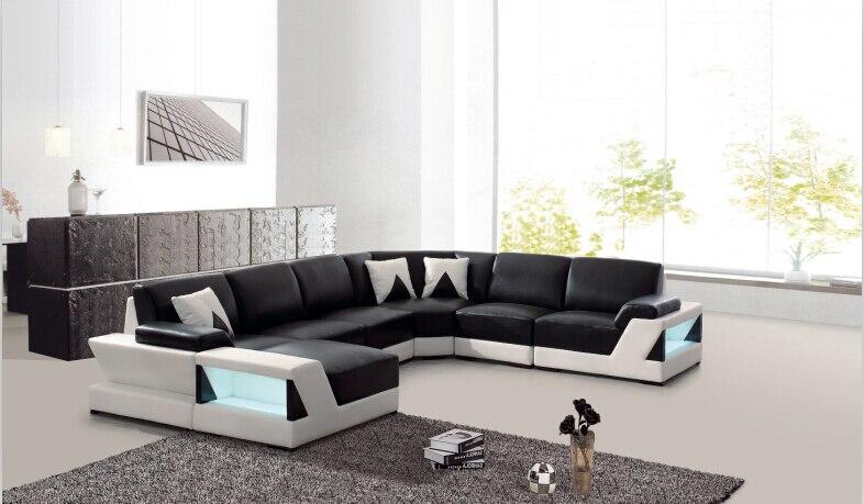 US $1389.0 |Moderno angolo divani e divani angolari in pelle per mobili  Divano set soggiorno con ampio angolo-in Divani da soggiorno da Mobili su  ...