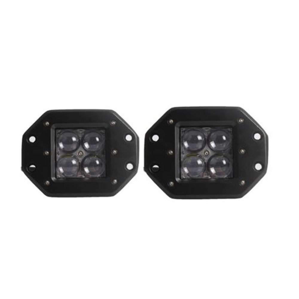 2pcs 20W LED Work Light Bar Flush Mount Cube Pods 4D Cup Spot/Flood Beam Offroad Driving for SUV ATV 4x4 4WD Truck Trailer Jeep цена