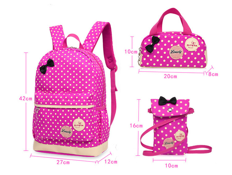 3 Pcs/Set New waterproof Girl School Bags For Teenagers backpack For Girls High Quality large capacity laptop backpack femminile