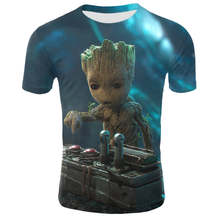 2019 neue baby Groot T Shirts Tees Männer groot pflanzer topf 3d t-shirt Superhero Movie guardians of the galaxy Schöne COOLE lustige(China)