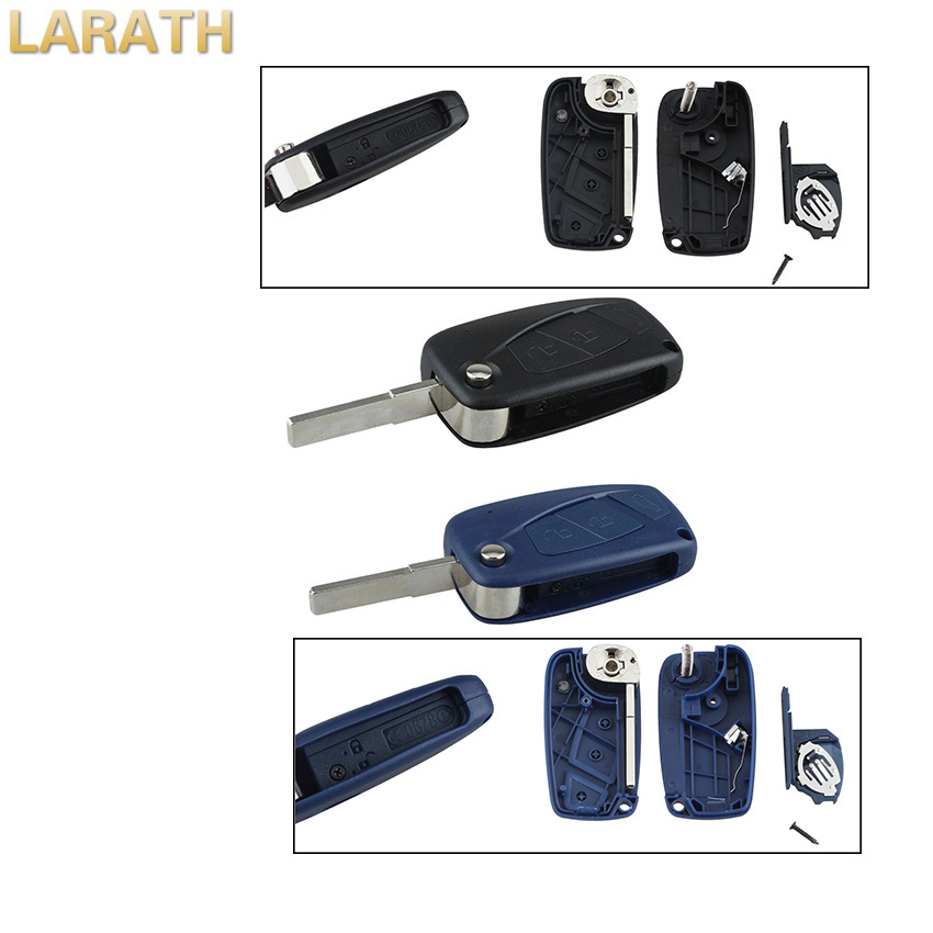 LARATH New Flip Fob Folding Remote Key Shell Case Cover 3 Buttons For FIAT Punto Ducato