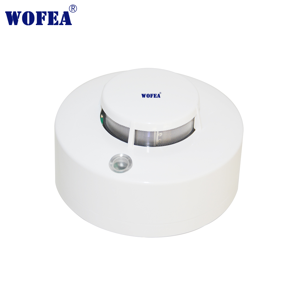 Wofea Photoelectric Smoke Detector Sensor Wired Smoke Alarm Fire Alarm 12V Alarm With Buzzer And Relay Output NO/NC