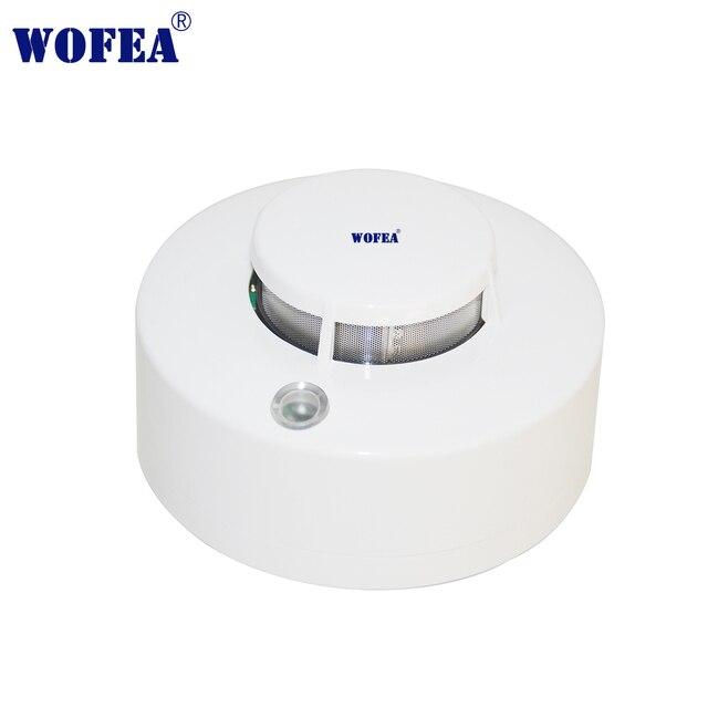 Wofea Photoelektrische Rauchmelder Sensor Wired Rauch alarm feuer alarm 12V alarm mit summer und relais ausgang NO/NC