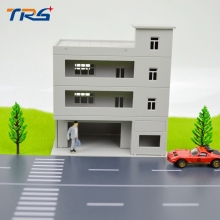 wholesale 1/144 SCALE model train building Miniaturas Furniture House plastic model tower for architecture model layout стоимость