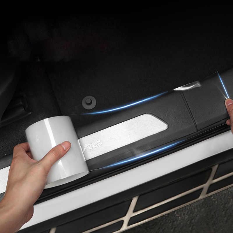 Наклейки для автомобиля авто защита внутренной стороны пленка край двери Защитный Клей автомобилей порог для багажника полный машинное тело виниловые аксессуары