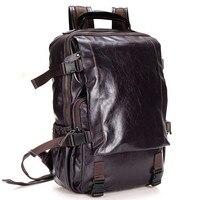2018 Fashion Men Backpack Genuine Leather Bag Men Travel Backpack Laptop Famous Brands High Quality Male Big Capacity Backpack