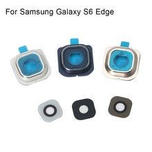 1 set לסמסונג גלקסי S6 קצה אחורי מצלמה אחורית מסגרת מחזיק זכוכית עדשת החלפת חלקים